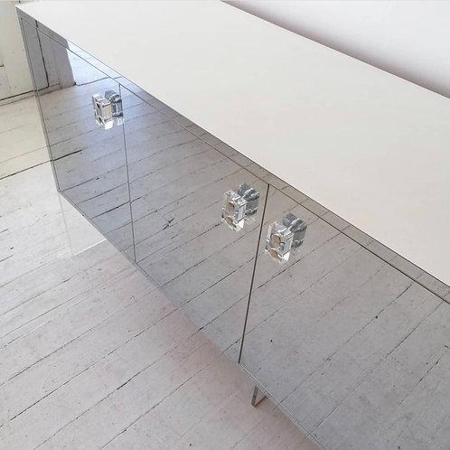 Milo Baughman style mirrored sideboard C.1970