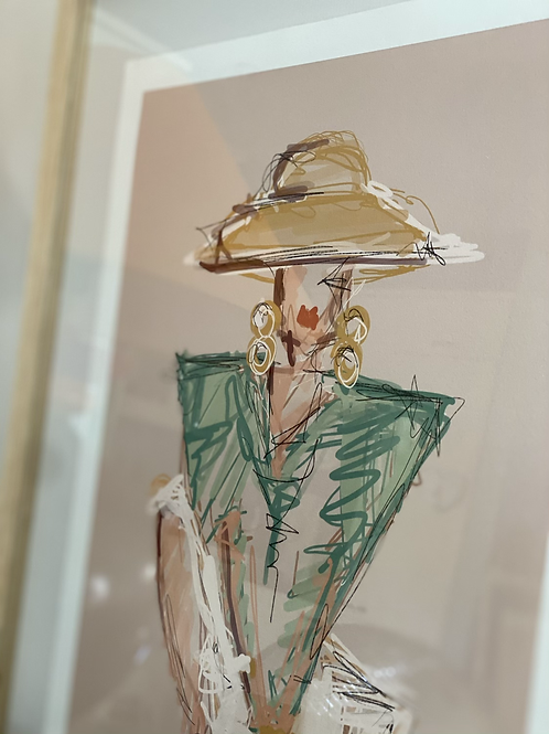 Framed art work by Lia Briamonte