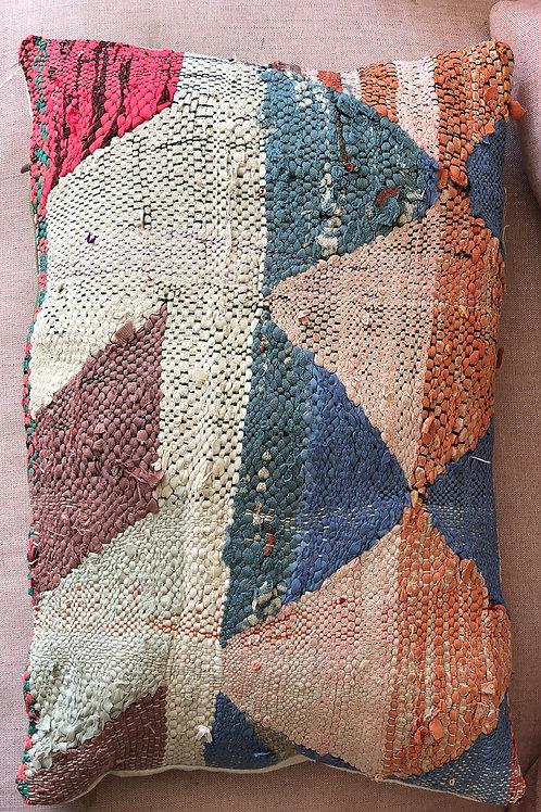 Moroccan Kilim Boucherouite Cushion