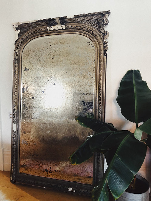 French mercury mirror, signed and dated 1904