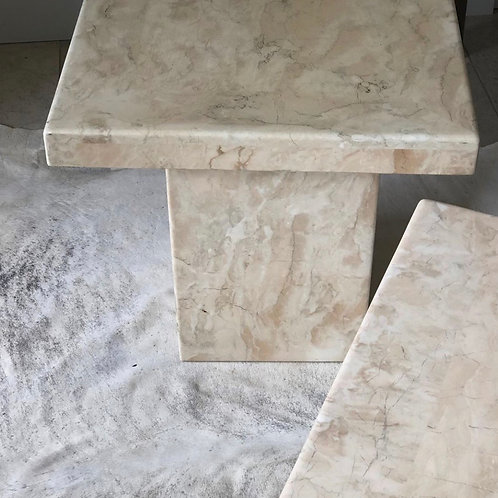 Italian marble side tables