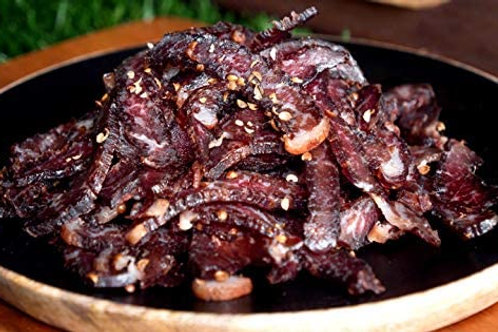 Wet and Fatty Bushman Spiced Biltong Sliced