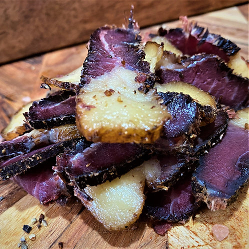 Wet and Fatty Biltong Sliced