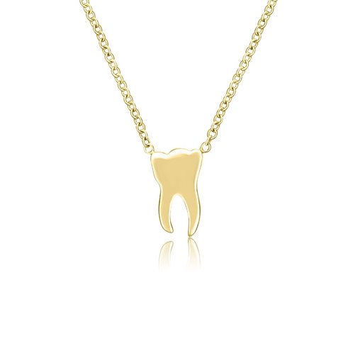 YELLOW GOLD TOOTH NECKLACE