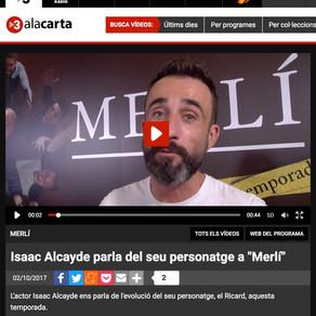 """Isaac Alcayde habla de su personaje en """"Merlí""""."""