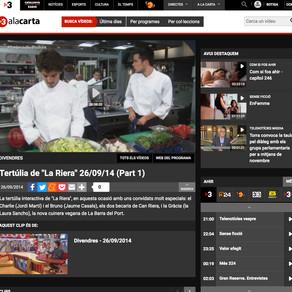 """Jordi Martí en la Tertúlia de """"La Riera"""",  Tv3."""
