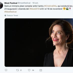 Cristina Dilla, presentadora de las galas del MOST FESTIVAL 2018.