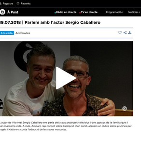 Entrevista  a Sergio Caballero en A Punt.