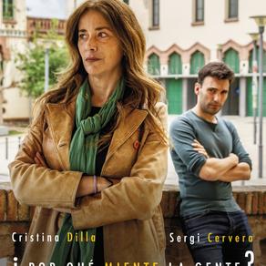 """Cristina Dilla en """"¿Por qué miente la gente?"""". Microteatro Barcelona"""