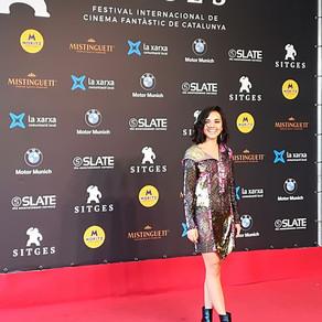 Katrin Vankova en la Blood Red Carpet del Festival de Sitges.