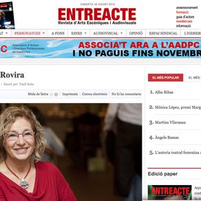 María Antonia Rovira en Entreacte.