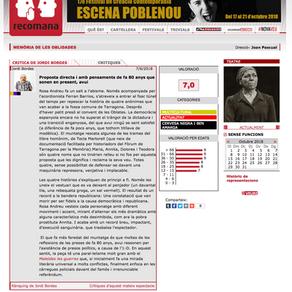 """Rosa Andreu, crítica de """"Memoria de las olvidadas."""""""