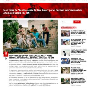 """MARTÍ MÚRCIA. """"La vida sense la Sara Amat"""" en el Festival Internacional de Cinema en Català FIC-CAT"""
