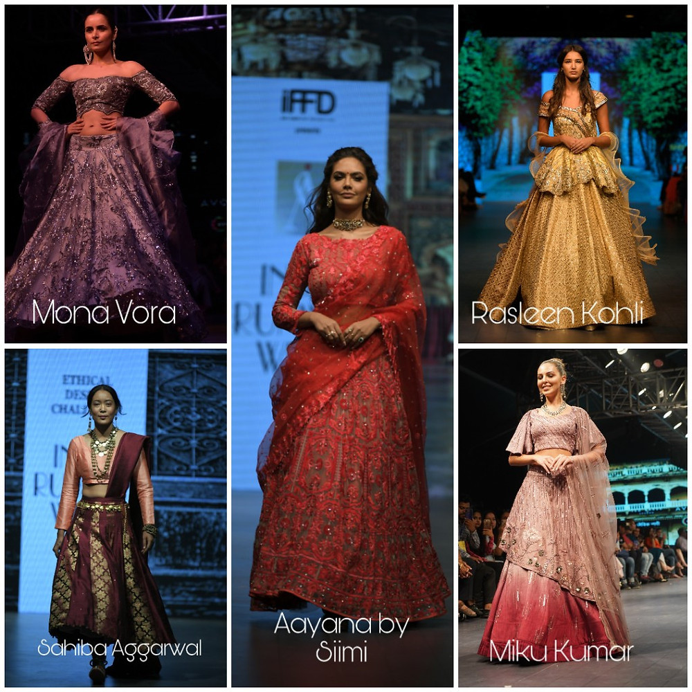 Lehengas on the ramp of IRW for the brides to be