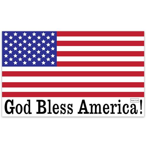 WHSL God Bless America Vinyl Bumper Sticker