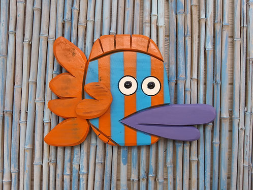 Isaiah the Fish Handmade in Florida Wood Wall Art
