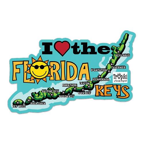 WHSL I Love the Florida Keys Vinyl Bumper Sticker LOT of 50