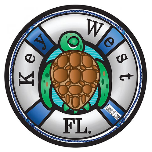 WHSL Key West Turtle Life Preserver Vinyl Bumper Sticker LOT of 50