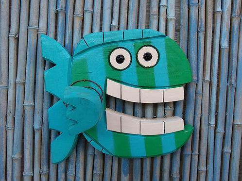 Harry the Happy Fish Handmade in Florida Wood Wall Art