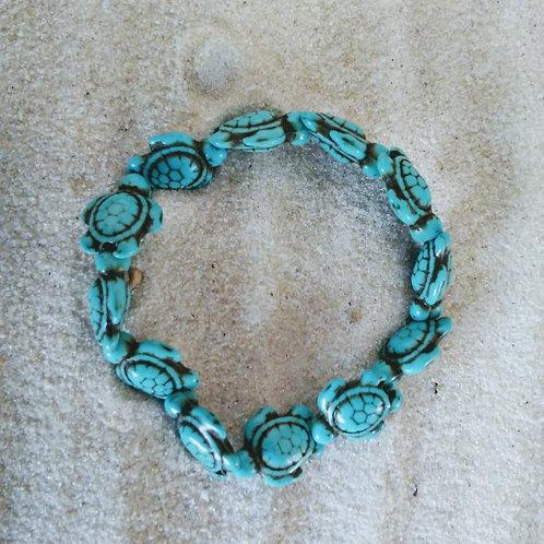 Beaded Turquoise Turtle Bracelet