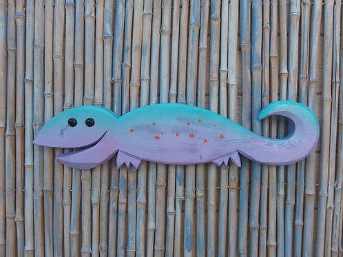 WHSL Leonard the Lizard Handmade in Florida Wood Wall Art