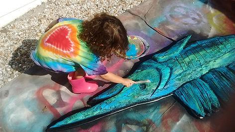 Sea Life Tropical Art Handmade