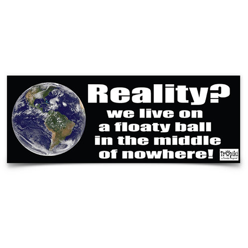 Reality Vinyl Bumper Sticker