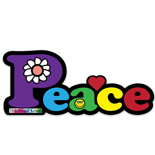 Peace Vinyl Bumper Sticker