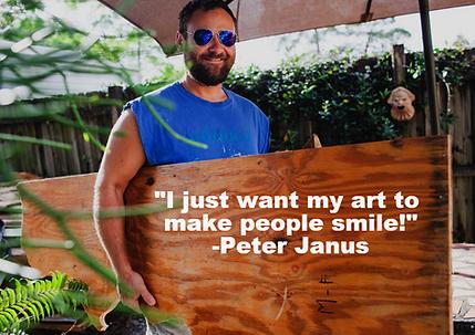 Peter Janus Making Art Work