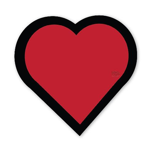 Heart Vinyl Bumper Sticker