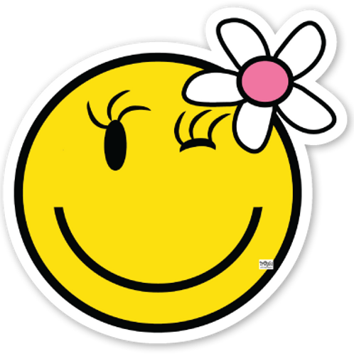 Happy Girl Vinyl Bumper Sticker