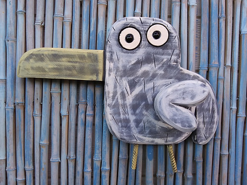 WHSL Sally the Seagull Handmade in Florida Wood Wall Art Spring Action