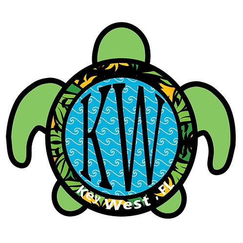 Key West Turtle Vinyl Bumper Sticker