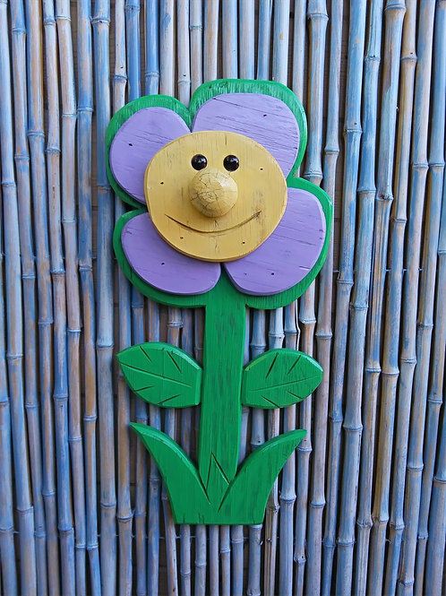 WHSL Patricia the Petunia Handmade in Florida  Wall Art