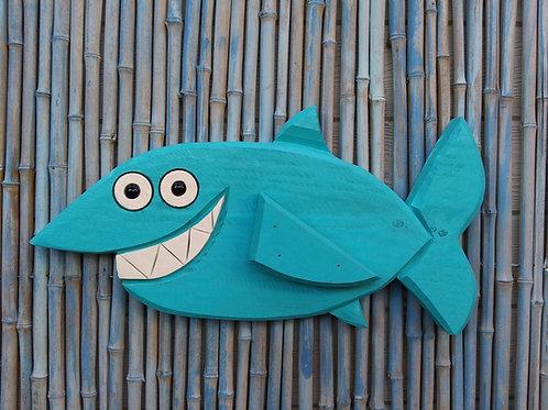 WHSL Sammy the Shark Handmade in Florida Wood Wall Art