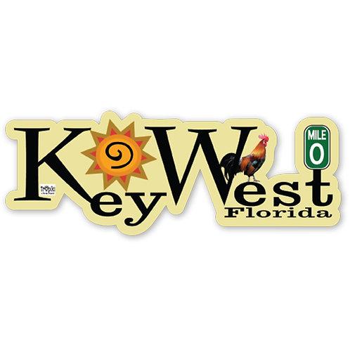 Key West,Fl. Vinyl Bumper Sticker