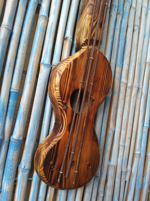 WHSL Tropical Ukulele Handmade in Florida Wood Wall Art Spring Action