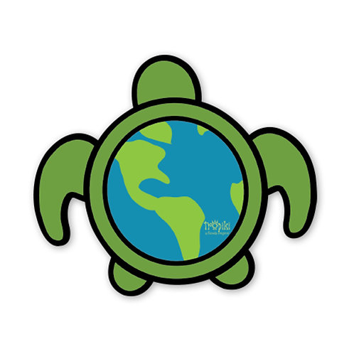 WHSL World Turtle Vinyl Bumper Sticker LOT of 50