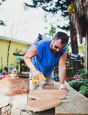 Peter Janus making Handmade in Florida Art