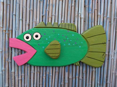 Gary the Grouper Handmade in Florida Wood Wall Art