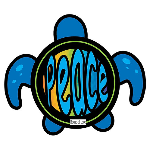 WHSL Peace Turtle Vinyl Bumper Sticker