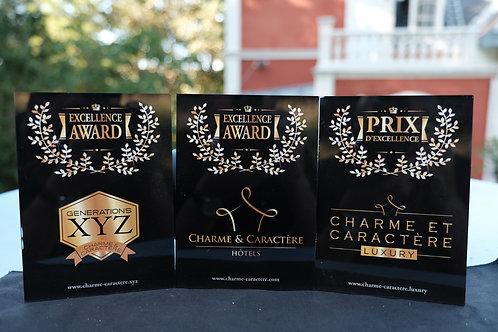 Plaque Prix d'Excellence