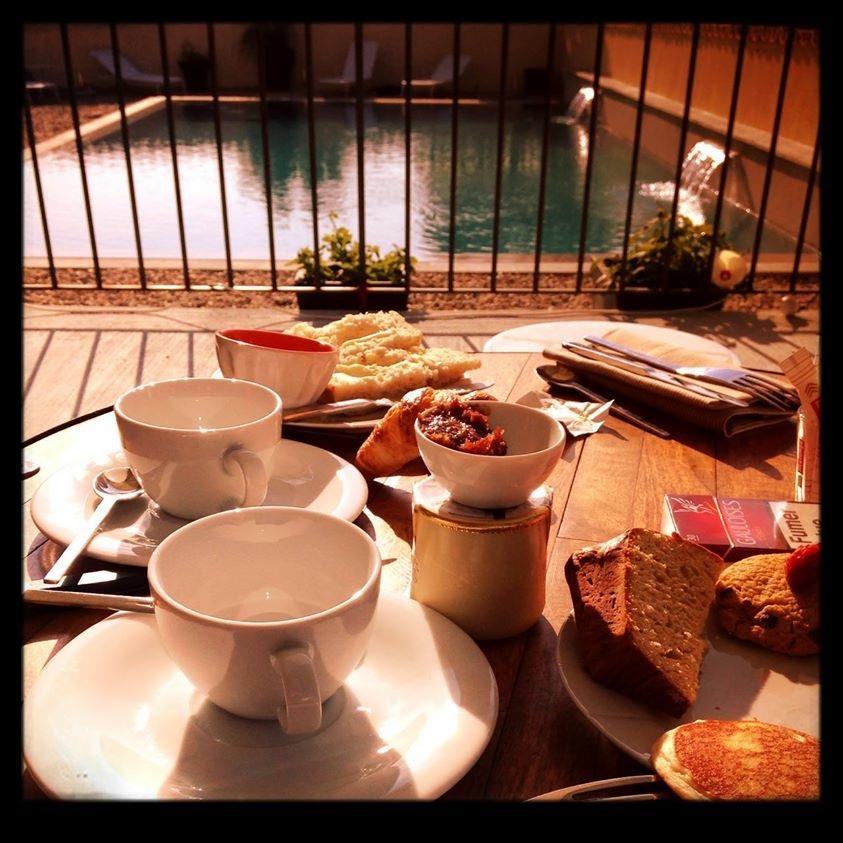 petit dejeuner terrasse