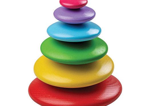 Rainbow stacking Pebbles