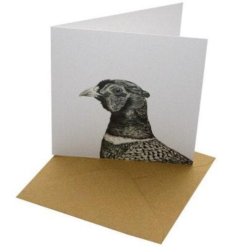 Pheasant card blank