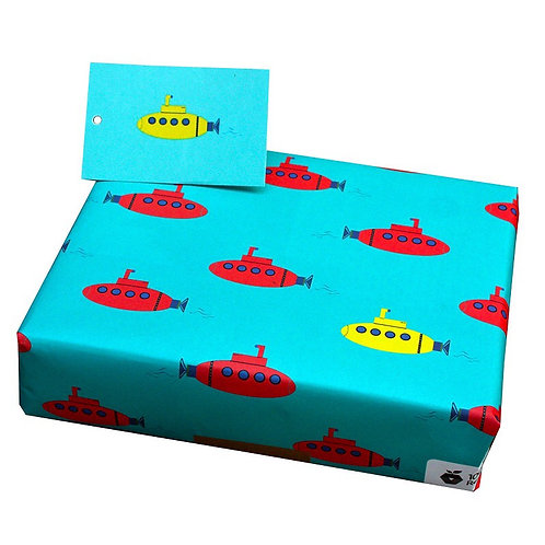 Eco-friendly submarine giftwrap Single Sheet