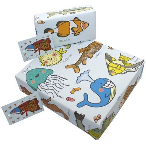 Sealife  gift wrap
