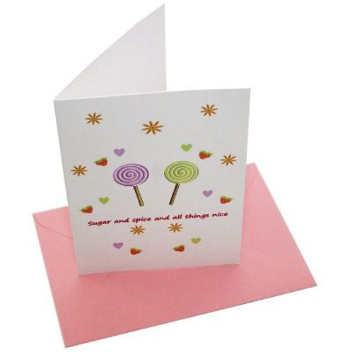 Sugar and Spice Blank Card