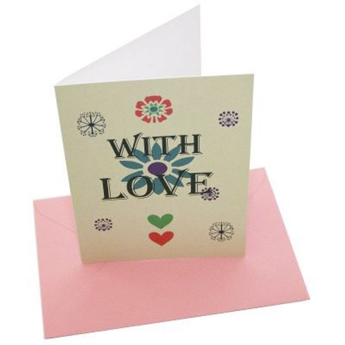 With Love blank card
