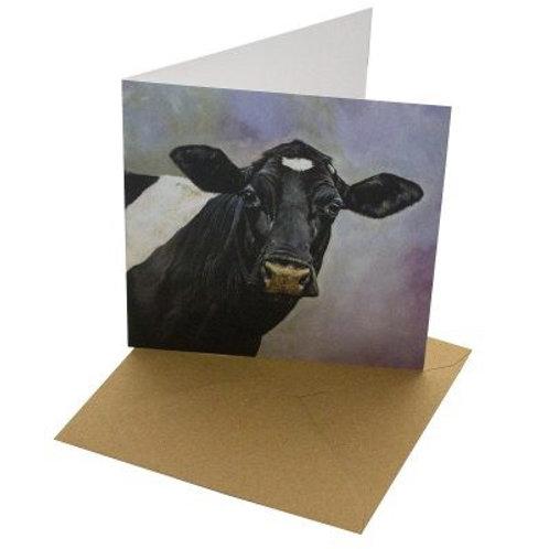 Friesian cow card blank